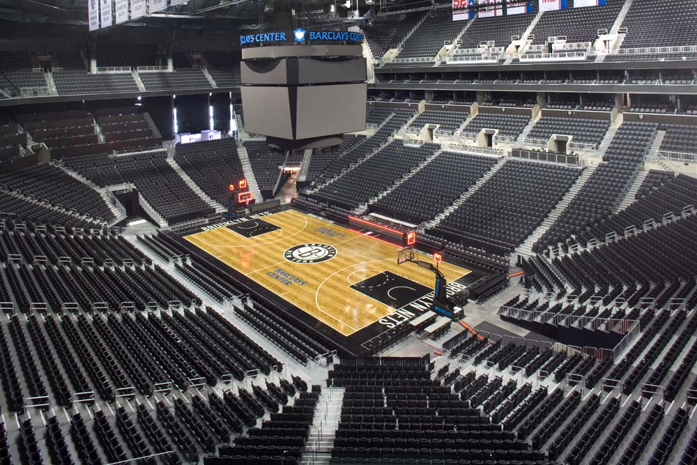 The TeleMatic 100 Telescopic Riser is currently in use at multiple arenas including the Barclays Center in Brooklyn, NY.